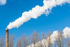 Camino di fumo Fotografie Stock Libere da Diritti