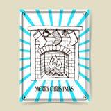Camino di Natale di schizzo Fotografie Stock Libere da Diritti