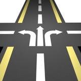 Camino directo 10 del asfalto ilustración del vector