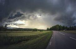 Camino dramático Imagen de archivo
