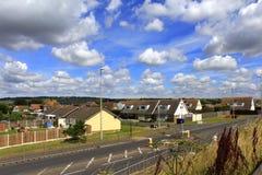 A259 camino Dymchurch Kent Reino Unido Fotos de archivo