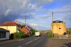 A259 camino Dymchurch Kent Reino Unido Imagenes de archivo