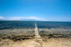 Camino el océano Imagen de archivo libre de regalías