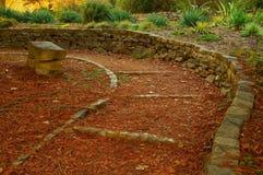 Camino emparedado piedra del parque foto de archivo libre de regalías