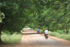 Camino en aldea de China Foto de archivo
