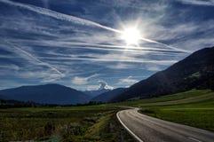 Camino en Austria foto de archivo