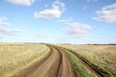 Camino en campo Fotografía de archivo libre de regalías