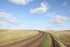 Camino en campo Foto de archivo libre de regalías