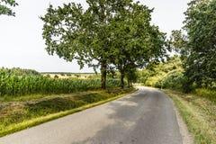 Camino en campo checo Imágenes de archivo libres de regalías