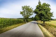 Camino en campo checo Foto de archivo libre de regalías