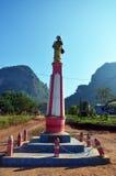 Camino en campo en Tai Ta Ya Monastery Foto de archivo libre de regalías
