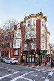 Camino en Charles Street en Boston céntrica en mA América imagen de archivo libre de regalías