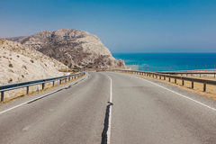 Camino en Chipre fotos de archivo