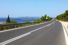 Camino en Croatia fotos de archivo