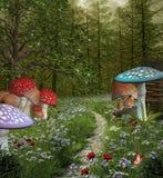Camino en el bosque verde de la fantasía Imagen de archivo