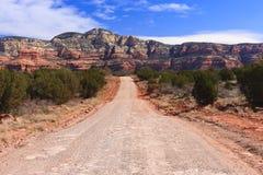 Camino en el desierto foto de archivo libre de regalías