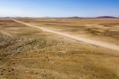 Camino en el desierto de Gobi fotografía de archivo