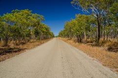 Camino en el interior, Qld australia Fotografía de archivo