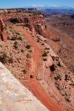 Camino en el parque nacional de Canyonlands Fotos de archivo libres de regalías