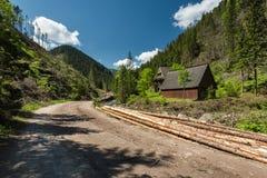 Camino en el valle de Chocholowska en la gama Polonia de Tatra Imagen de archivo libre de regalías