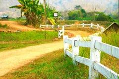 Camino en granja Foto de archivo libre de regalías