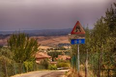 Camino en Italia fotos de archivo