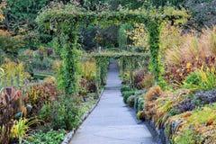 Camino en jardines del butchart Fotografía de archivo