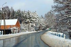 Camino en la aldea Foto de archivo libre de regalías
