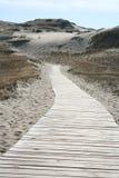 Camino en la arena imagen de archivo libre de regalías