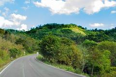 Camino en la colina Fotografía de archivo libre de regalías