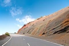 Camino en la isla de Tenerife, España Fotos de archivo