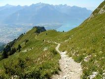 Camino en la montaña fotos de archivo libres de regalías