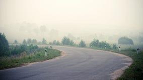 Camino en la niebla Foto de archivo libre de regalías