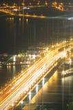 Camino en la noche Foto de archivo libre de regalías