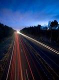 Camino en la noche Fotografía de archivo libre de regalías