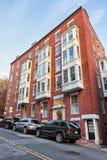 Camino en la vecindad Boston céntrica de Beacon Hill en el mA imagen de archivo libre de regalías