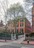 Camino en la vecindad Boston céntrica mA de Beacon Hill fotografía de archivo