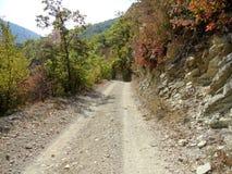 Camino en las montañas imagen de archivo libre de regalías