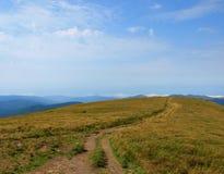 Camino en las montañas Foto de archivo libre de regalías