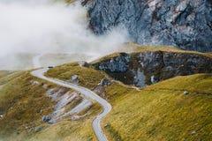 Camino en las montañas de Mangart Fotografía de archivo libre de regalías