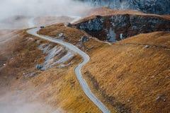 Camino en las montañas de Mangart Fotografía de archivo