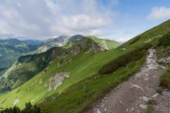 Camino en las montañas de Tatra. Fotos de archivo