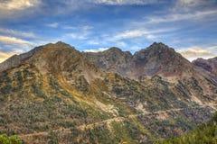 Camino en las montañas Imagenes de archivo