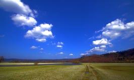 Camino en las nubes Fotografía de archivo