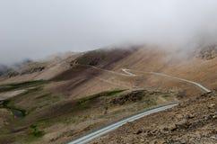 Camino en los Andes Imagen de archivo