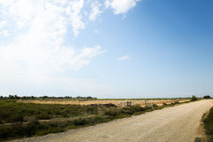 Camino en los campos en Francia meridional Imagenes de archivo