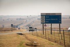 Camino en Middelburg, Suráfrica Fotografía de archivo libre de regalías