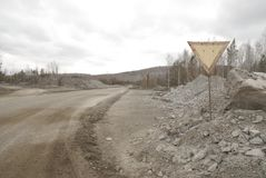 Camino en mina Fotos de archivo libres de regalías