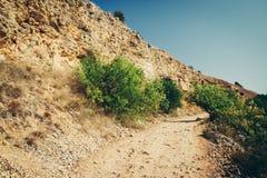 Camino en montaña Fotografía de archivo libre de regalías