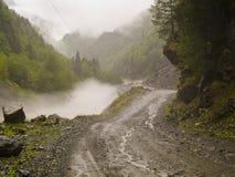 Camino en niebla Foto de archivo libre de regalías